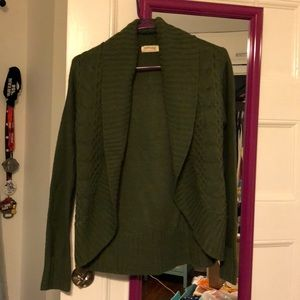 Faded Glory Olive Green Cardigan